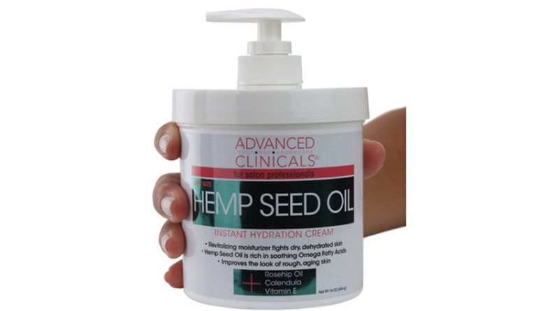 Hemp seed oil lotion for dry skin